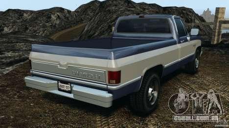 Chevrolet Silverado 1986 para GTA 4 traseira esquerda vista