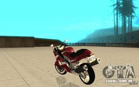 GTAIV TLAD Hakuchou Stock Version para GTA San Andreas traseira esquerda vista