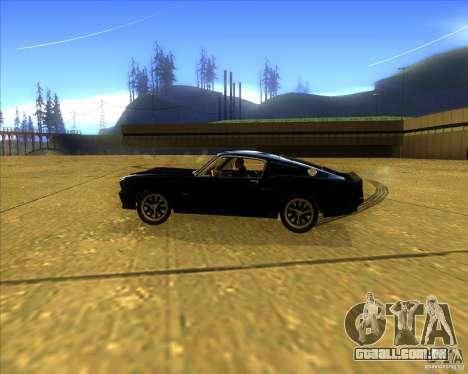 Shelby GT500 Eleanora clone para GTA San Andreas esquerda vista