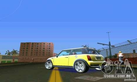Mini Cooper S para GTA Vice City vista traseira esquerda