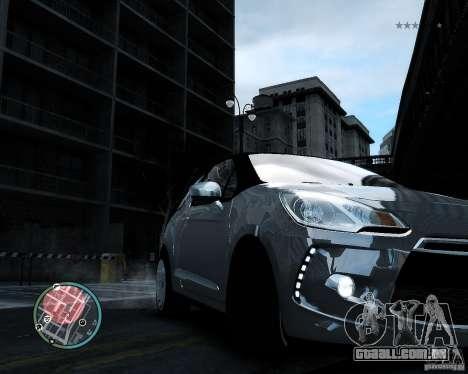 Citroen DS3 2011 para GTA 4 vista interior