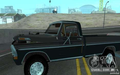 Ford F150 Ute 1976 para GTA San Andreas vista interior