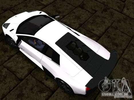 Lamborghini Murcielago LP670-4 sv para GTA San Andreas vista interior