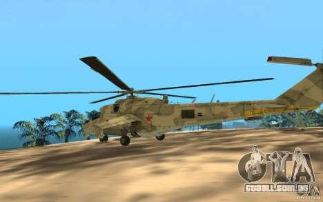 MI 24 para GTA San Andreas vista traseira
