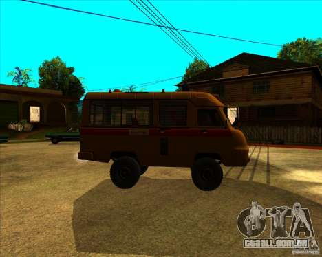 UAZ 3962 Medical para GTA San Andreas esquerda vista