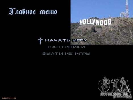Novo menu no estilo de Los Angeles para GTA San Andreas