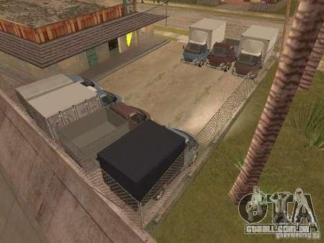 GÁS-3310 Valdai para GTA San Andreas vista interior