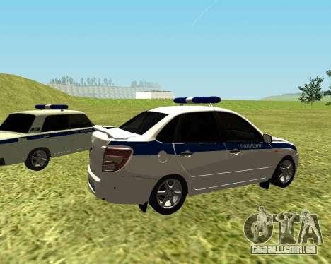 Polícia de 2190 VAZ para GTA San Andreas traseira esquerda vista