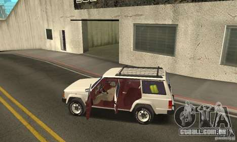 Jeep Grand Cherokee 1986 para GTA San Andreas vista inferior