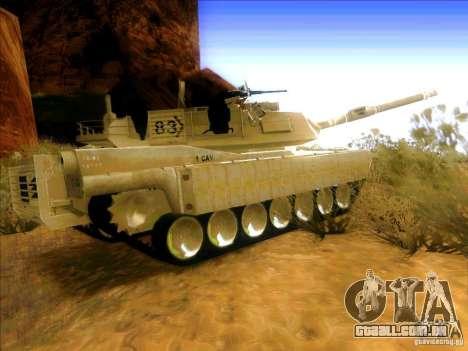 M1A2 Abrams de Battlefield 3 para GTA San Andreas traseira esquerda vista