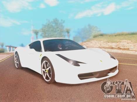 Ferrari 458 2010 para GTA San Andreas