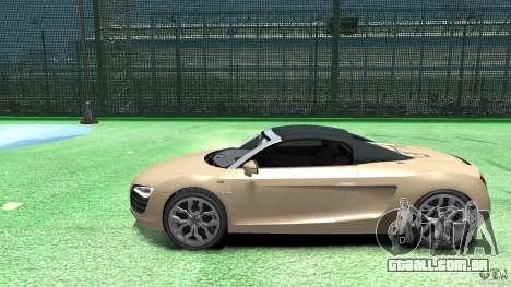 Audi R8 Spyder v10 [EPM] para GTA 4 esquerda vista