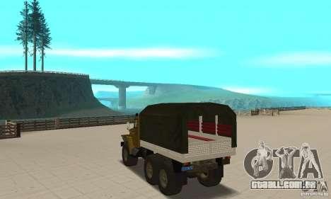 Ural 4320 para GTA San Andreas traseira esquerda vista