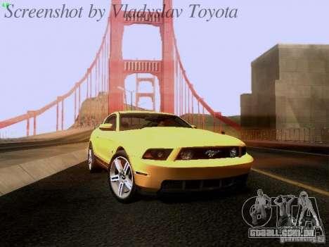 Ford Mustang GT 2011 para GTA San Andreas traseira esquerda vista