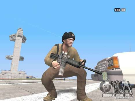 HQ Weapons pack V2.0 para GTA San Andreas por diante tela
