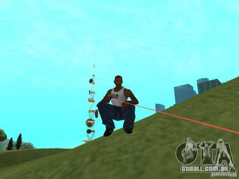 Laser Weapon Pack para GTA San Andreas segunda tela