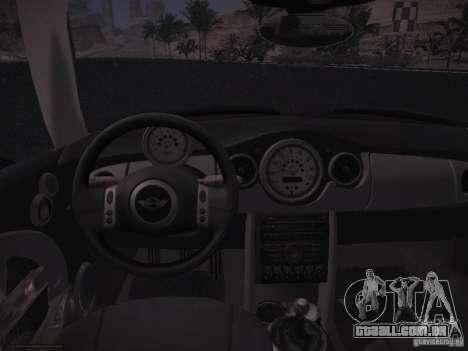 Mini Cooper S para GTA San Andreas vista traseira