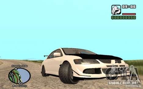 Mitsubishi Lancer Evolution 8 Carbon para GTA San Andreas traseira esquerda vista