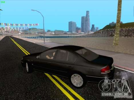 Ford Falcon Fairmont Ghia para vista lateral GTA San Andreas