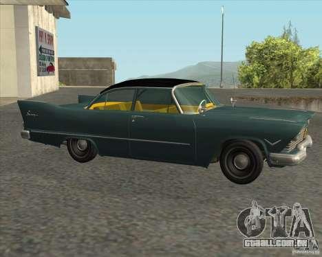 Plymouth Savoy 1957 para GTA San Andreas traseira esquerda vista
