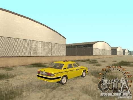 Gaz-31105 táxi para GTA San Andreas esquerda vista