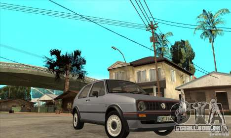 Volkswagen Golf 2 GTI 1984 para GTA San Andreas vista traseira