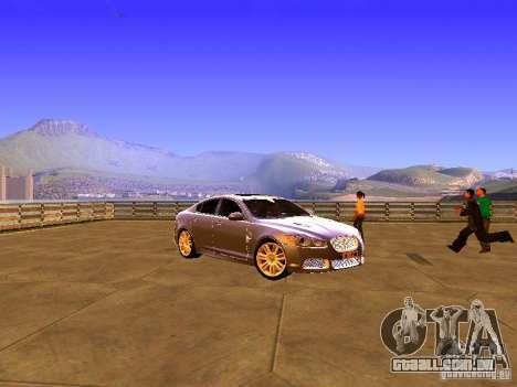 Jaguar XFR 2011 para GTA San Andreas esquerda vista