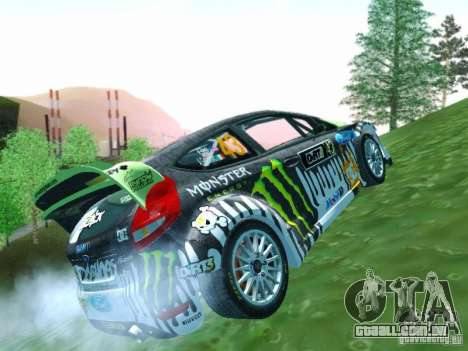 Ford Fiesta Ken Block Dirt 3 para GTA San Andreas vista interior