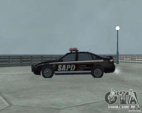 Cop Car Chevrolet para GTA San Andreas esquerda vista