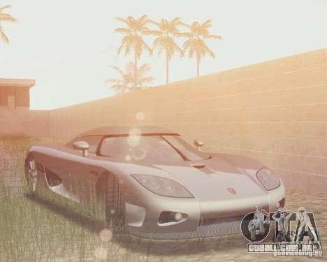 Koenigsegg CCX 2006 v2.0.0 para GTA San Andreas vista inferior