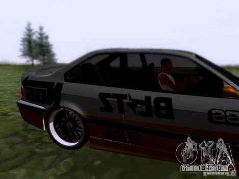 BMW E36 Drift para GTA San Andreas traseira esquerda vista