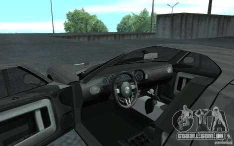 Ford GT 40 para GTA San Andreas vista traseira