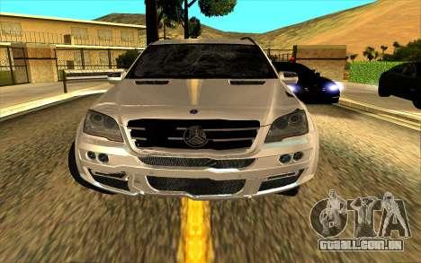 Mercedes-Benz ML63 AMG W165 Brabus para o motor de GTA San Andreas