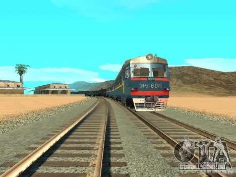 ER2 8011 para GTA San Andreas vista traseira
