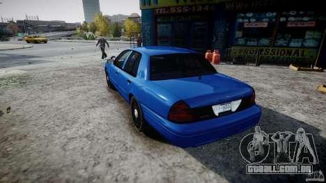 Ford Crown Victoria Detective v4.7 [ELS] para GTA 4 traseira esquerda vista