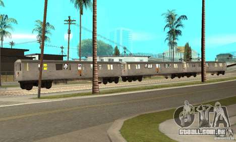 Liberty City Train GTA3 para GTA San Andreas esquerda vista
