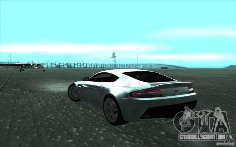 Aston Martin V12 Vantage para GTA San Andreas esquerda vista