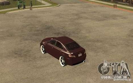 Toyota Camry 2010 para GTA San Andreas traseira esquerda vista