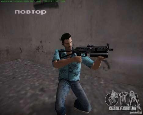 PP-19 Bizon para GTA Vice City por diante tela
