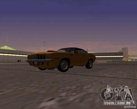 Plymouth Barracuda para GTA San Andreas vista direita