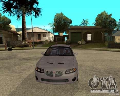 2005 Pontiac GTO para GTA San Andreas vista traseira