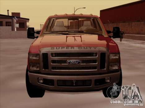 Ford  F350 Super Duty para GTA San Andreas esquerda vista
