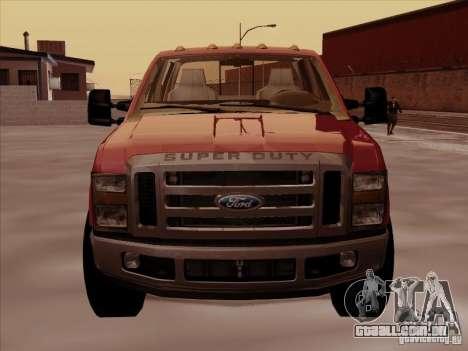 Ford  F350 Super Duty para GTA San Andreas esquerda vista