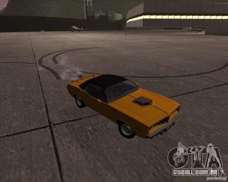 Plymouth Barracuda para GTA San Andreas vista interior