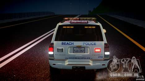 Chevrolet Trailblazer Police V1.5PD [ELS] para GTA 4 interior