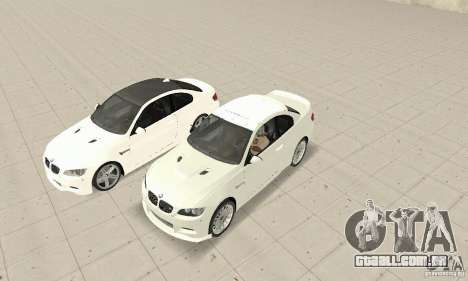 BMW M3 2008 para GTA San Andreas esquerda vista