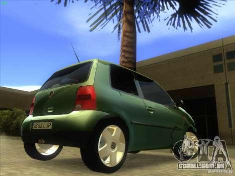 Volkswagen Lupo para GTA San Andreas vista traseira