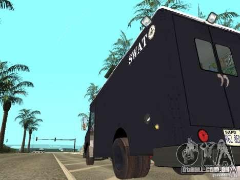 SWAT de Los Angeles para GTA San Andreas traseira esquerda vista