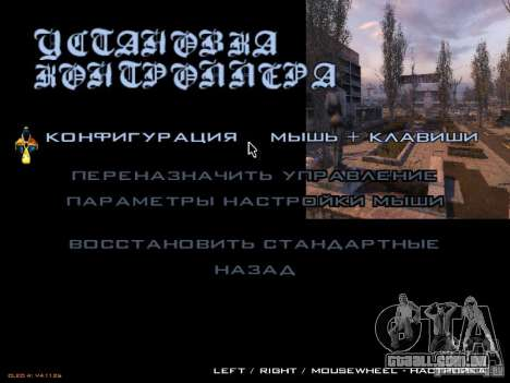 Menu principal-estilo Stalker para GTA San Andreas terceira tela