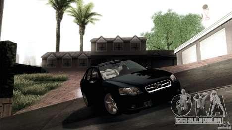 Subaru Legacy B4 3.0R specB para GTA San Andreas vista interior
